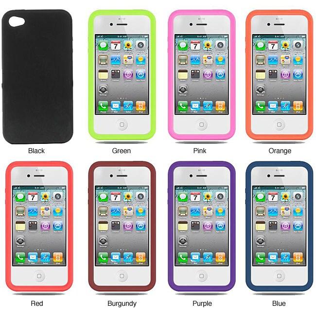 Verizon iPhone 4 Premium Silicone Skin Protective Case