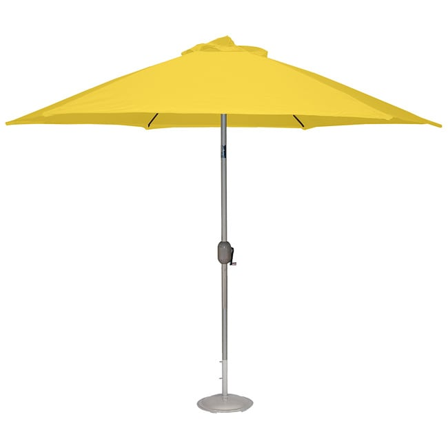 Aluminum Yellow 9 Foot Outdoor Market Umbrella With Crank