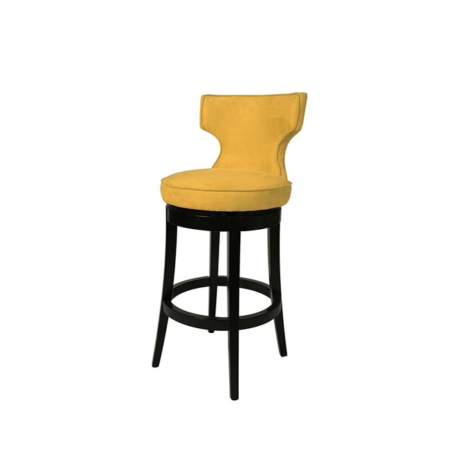Augusta Yellow 30 Inch Wood Swivel Bar Stool Free