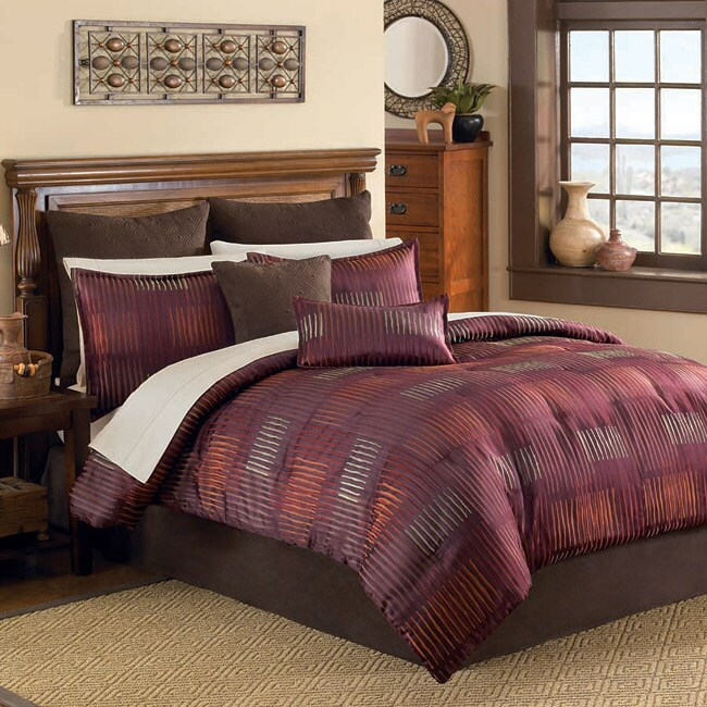 Augusta 8-piece California King-size Bed in a Bag with Sheet Set