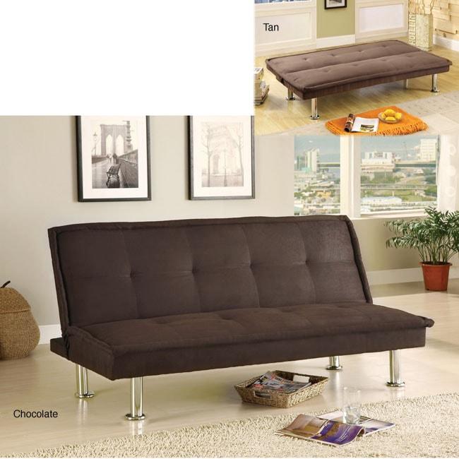 Furniture of America Brix Microfiber Youth Futon/ Sofa