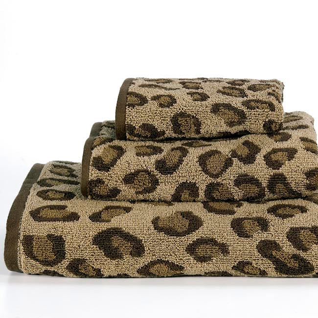 Animal World Leopard Cotton 3 Piece Towel Set Free