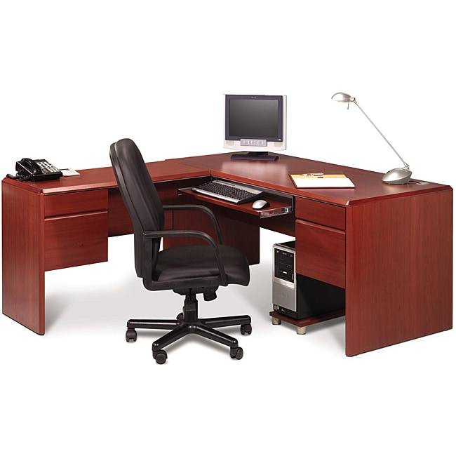 Bestar Willow Creek II L-shaped Workstation Kit - Free Shipping Today