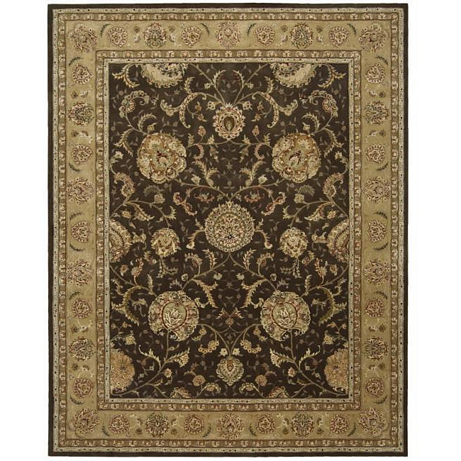 9 X 12 Nourison Nourmak Hand Knotted 100 Wool Persian: Shop Nourison 2000 Hand-tufted Brown Wool/ Silk Rug (12' X