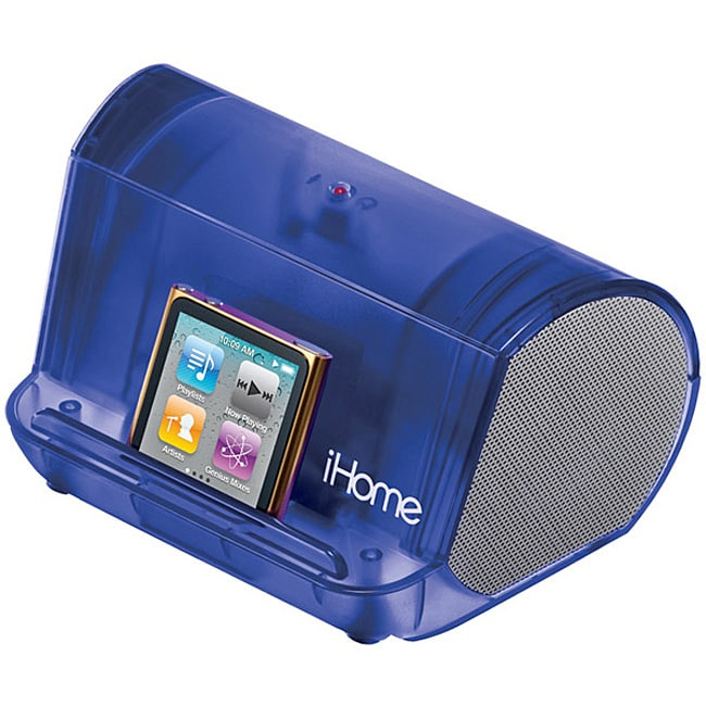 iHome Blue iHM9 Portable Translucent MP3 Stereo Speaker
