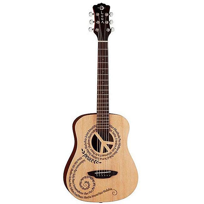 Luna Safari Travel Peace Design 3/4 Guitar