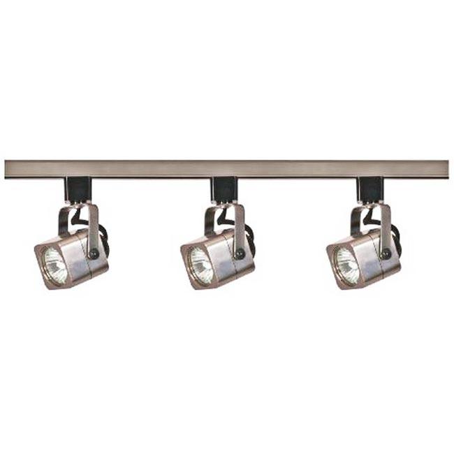 nuvo lighting 3light brushed nickel square head track light kit - Nuvo Lighting