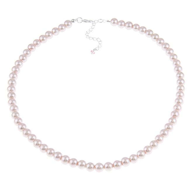 Crystale Silvertone Pink Faux Pearl 20-inch Necklace
