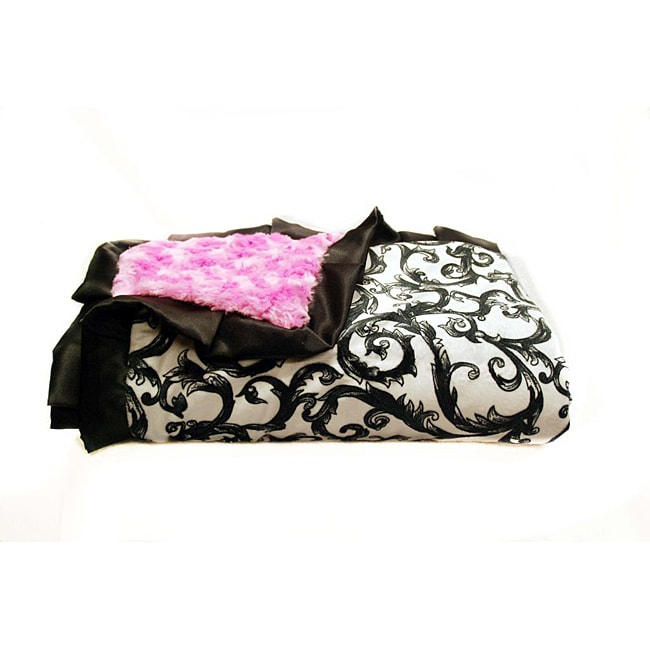 Minky Couture Pink Brooke Blanket