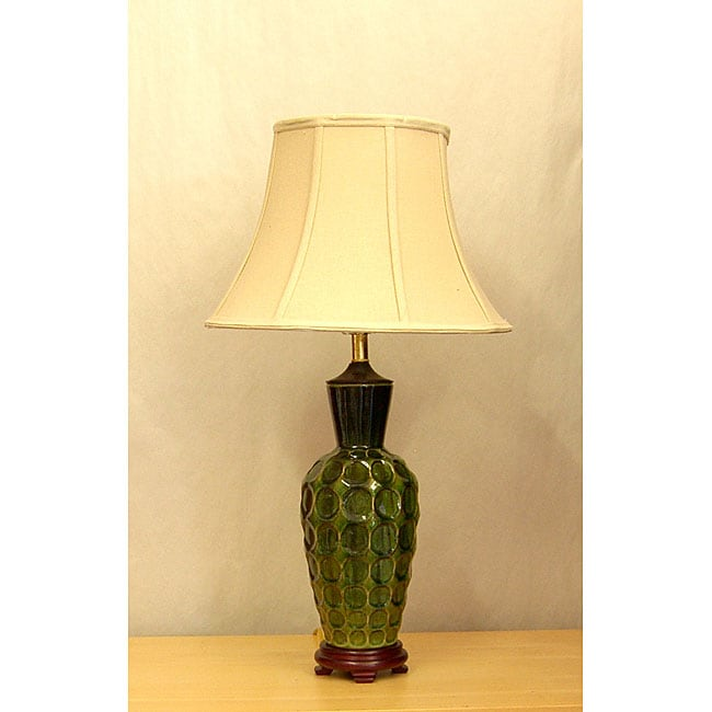 Green Circle Porcelain Glazed Table Lamp