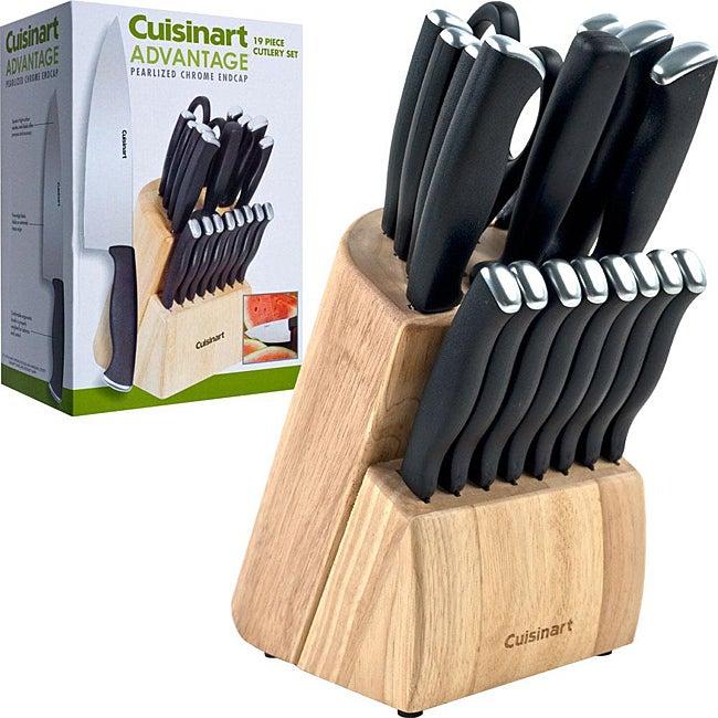 Cuisinart Advantage 19 Piece Solid Pom Cutlery Block Set