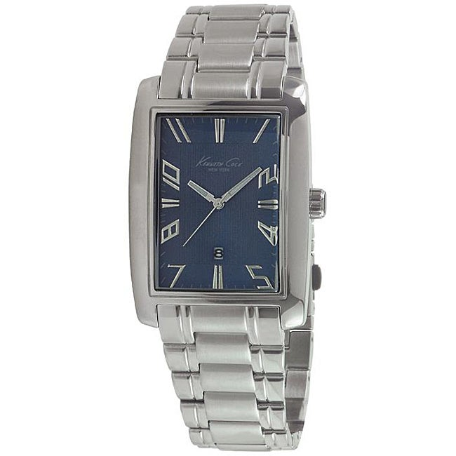 Kenneth Cole Men's Stainless Steel Bracelet Blue Dial Watch - Thumbnail 0