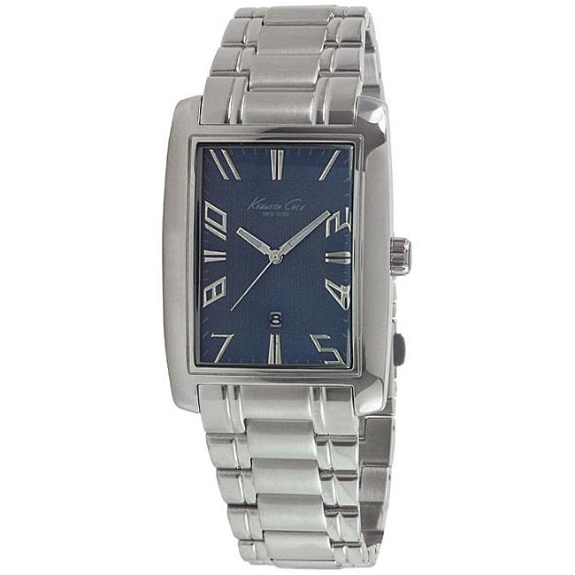 Kenneth Cole Men's Stainless Steel Bracelet Blue Dial Watch