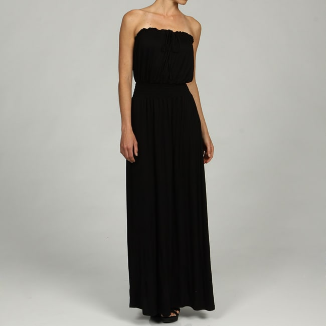Seven 7 Women's Knit Peasant Strapless Maxi Dress