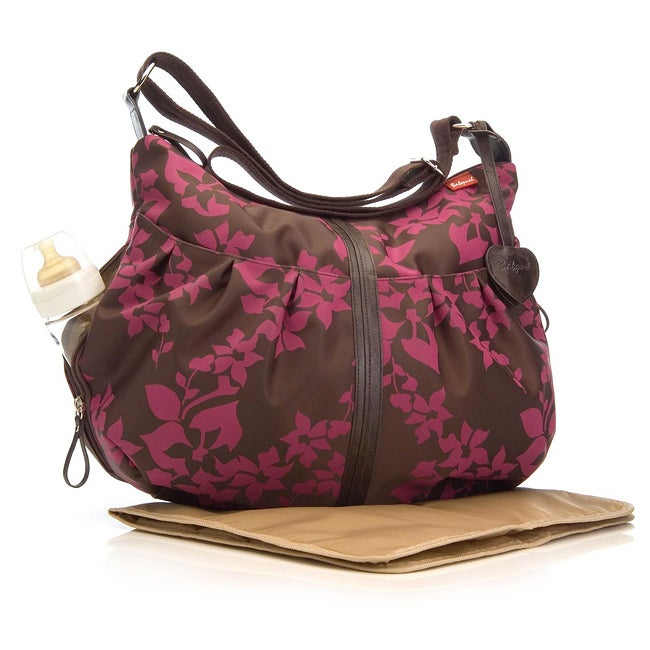 Babymel Amanda Floral Chocolate Fuschia Diaper Bag