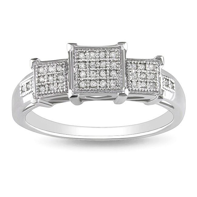 10k White Gold 1/10ct TDW Diamond Fashion Ring