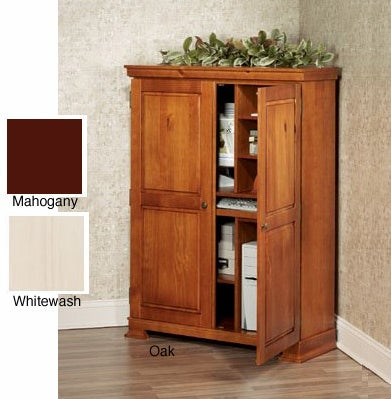 deerfield corner computer armoire three finishes