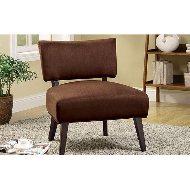 Chocolate microfiber lounge occasional accent chair free