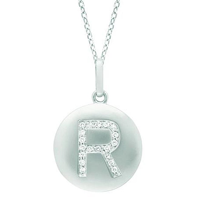 14k Gold and Silver 1/10ct TDW Diamond Accent 'R' Necklace (H-I, I2-I3)