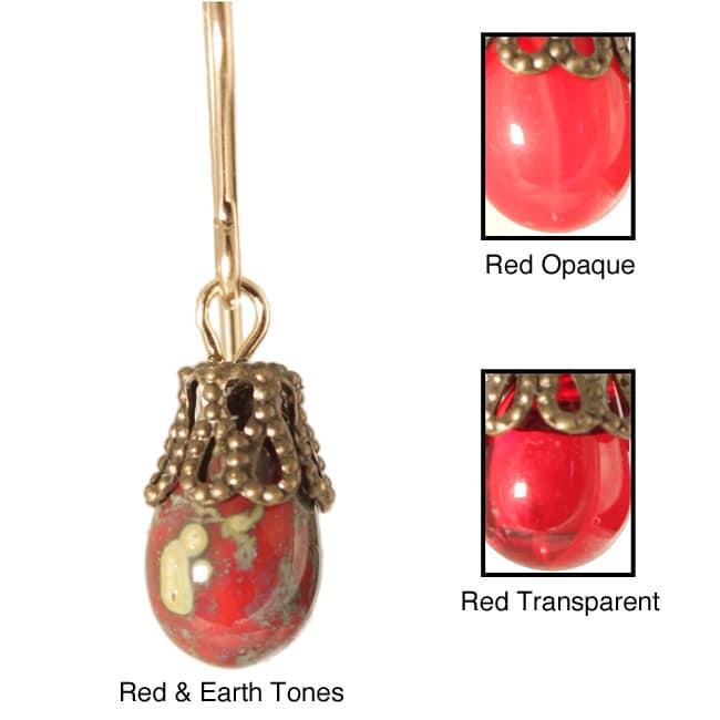 'Talutah' 14k Gold Fill<br>Glass Earrings