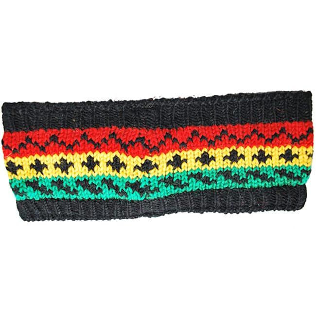 Wool Hand-knit Rasta Headband (Nepal)