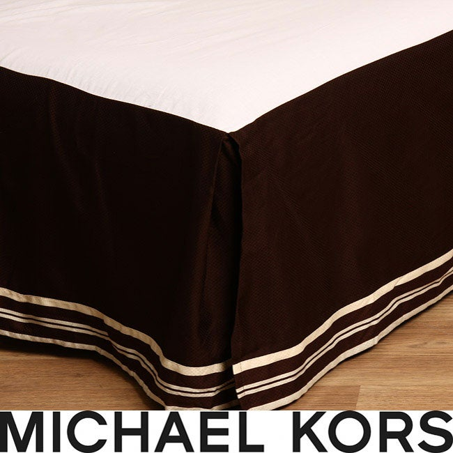 Michael Kors Taos Nutmeg California King-size Bedskirt - Thumbnail 0