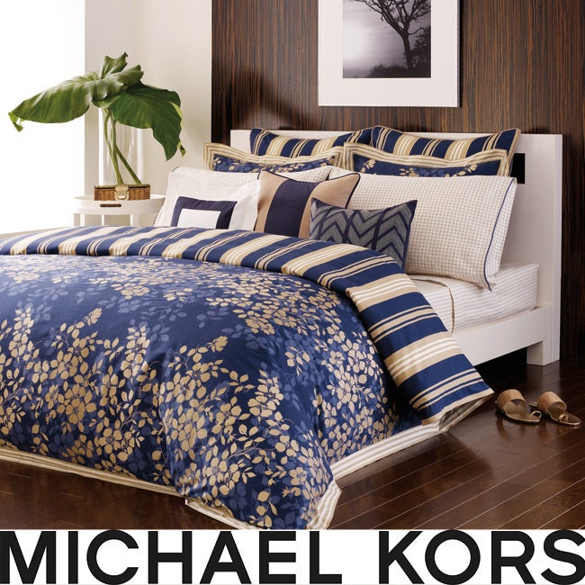 Michael Kors St.Tropez Multi Blue Cal King 4-pc Comforter Set