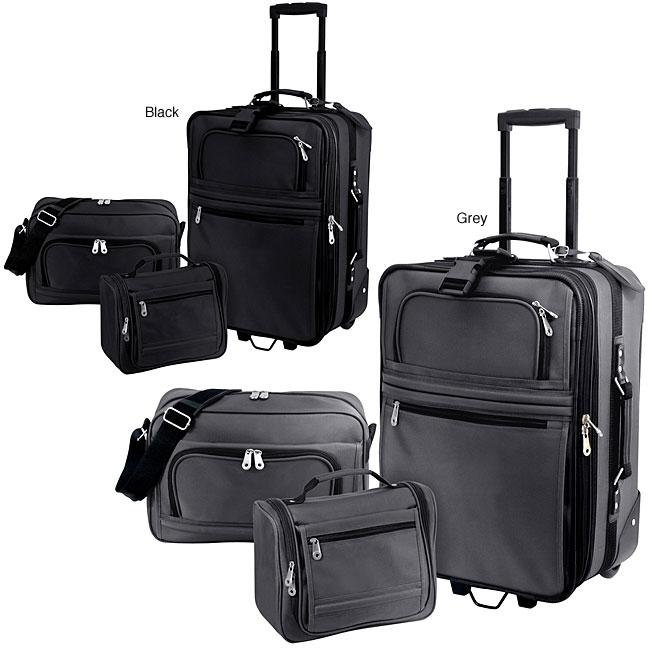 G Pacific Explorer 3-piece Ballistic Nylon Carry-on Luggage Set