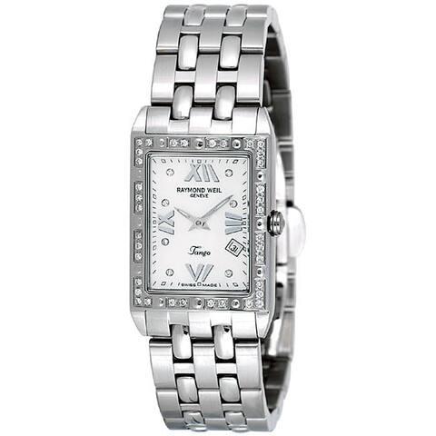 Raymond Weil Women's 'Tango Spirit' Diamonds Set Bezel Watch