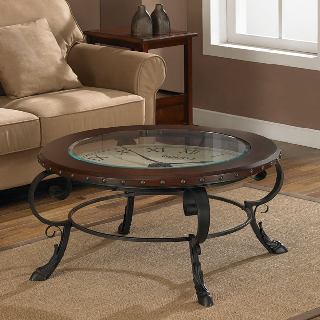 Clock Accent Table Free Shipping Today