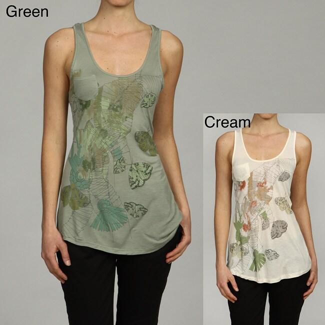 Jessica Simpson Women's Butterfly Print Tank Top