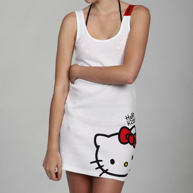 53260d09c Shop Hello Kitty Women's Junior Cover-up Tank Dress - Free Shipping ...