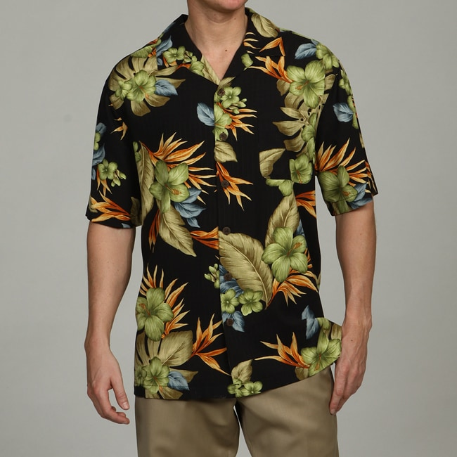 caribbean joe men 39 s paradise silk shirt free shipping on