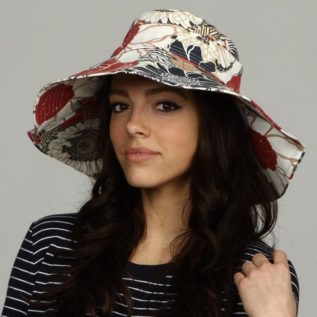 Shop Hat Attack Women s Floral Print Canvas Sun Hat - Free Shipping On  Orders Over  45 - Overstock.com - 5728559 1e63c4a57950