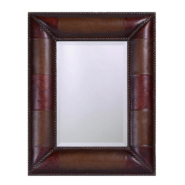 Ruler Brown Wood Mirror