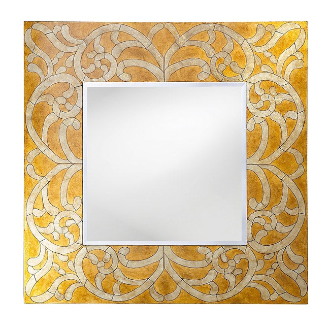 Gold and Silver Scrolls Mirror
