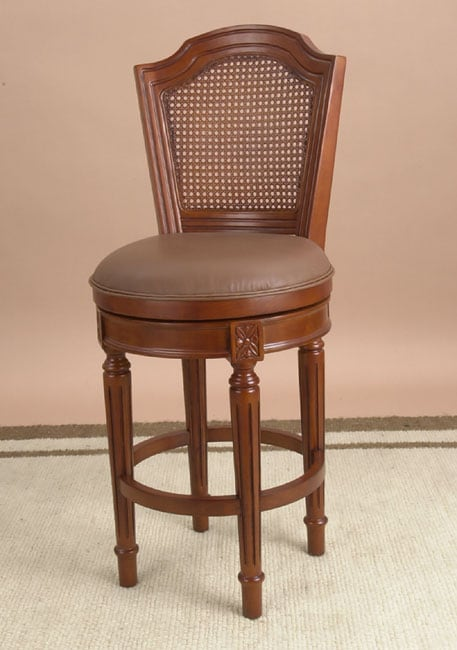 Louis XVI Swivel Counter Stool with Cane Back Leather  : L134649 from www.overstock.com size 457 x 650 jpeg 25kB