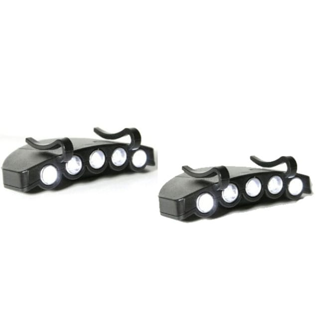 Generic 5-LED Clip-on Cap Light (Pack of 2)