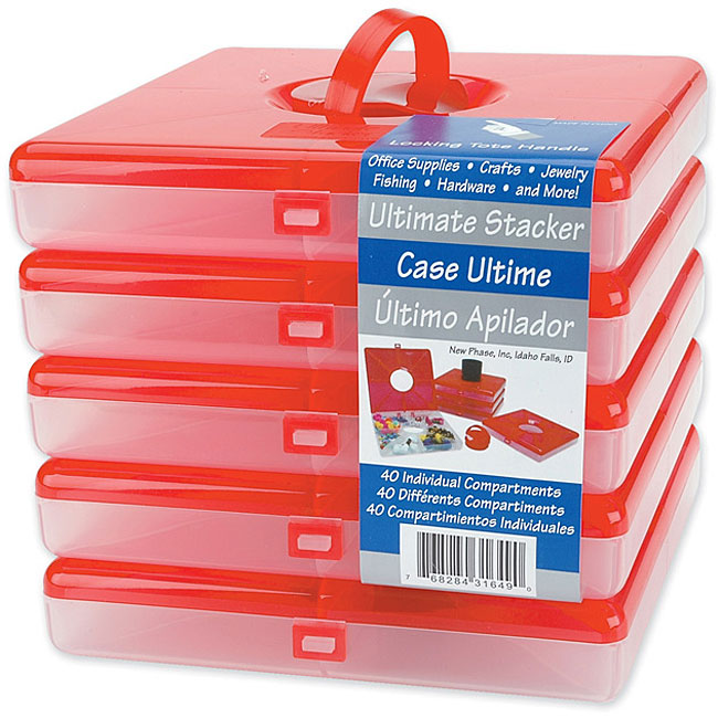 Ultimate Stacker Red Square Boxes (Pack of 5)