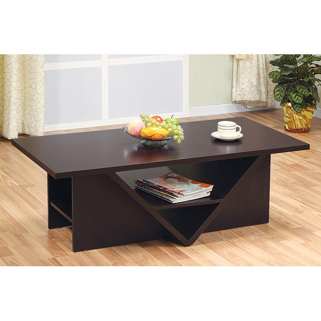 Furniture of America Sunset Rectangular Coffee Table - Thumbnail 0