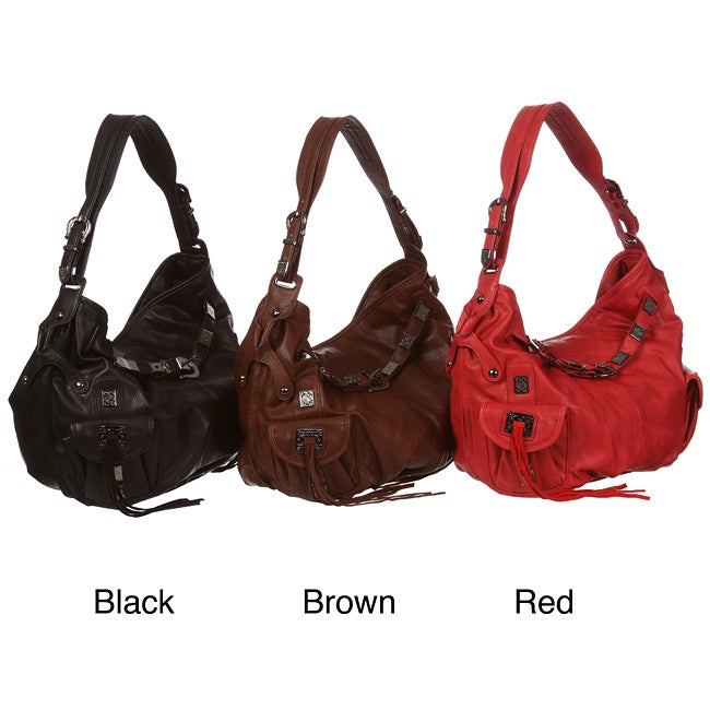 Shop Emperia Belt and Buckle Hobo Bag - Free Shipping On Orders Over  45 -  Overstock - 5738063 4b2b81c9b8027