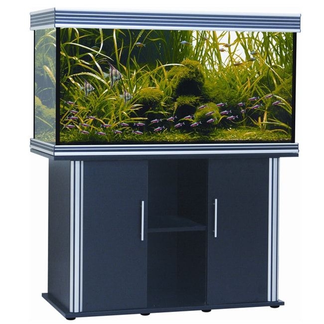 Nautilus collection 75 gallon black aquarium and stand for Fish tank stand 20 gallon