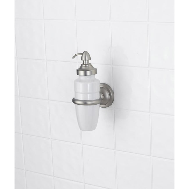 Signature Pewter White Porcelain Soap/ Lotion Dispenser