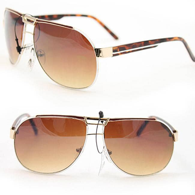 SWG Women's 812 Brown and Amber Debut Aviator Sunglasses