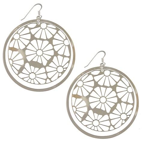 Sterling Silver Daisy Lace Earrings