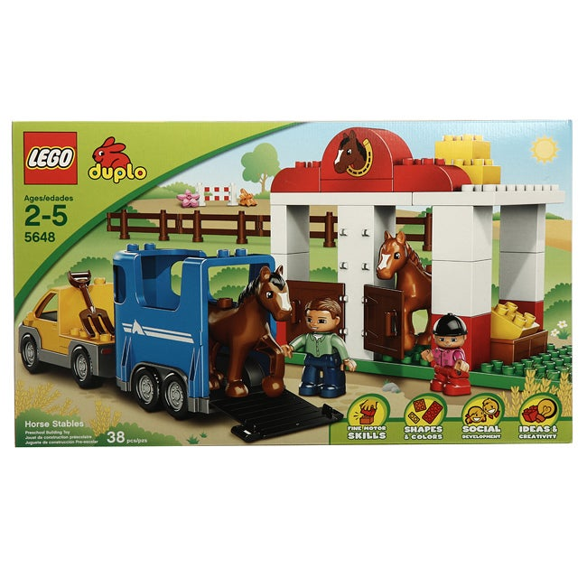 Shop Lego 5648 Duplo Horse Stables Toy Set Free Shipping