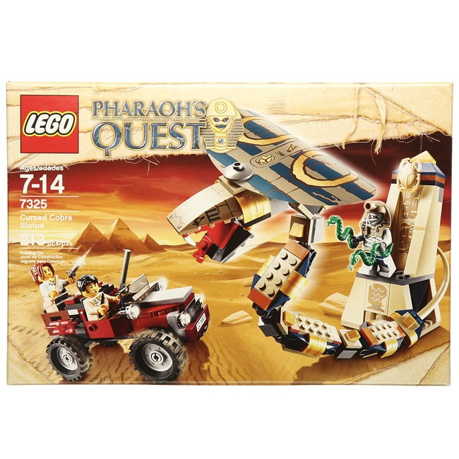 Shop Lego 7325 Pharaoh S Quest Cursed Cobra Statue Toy Set