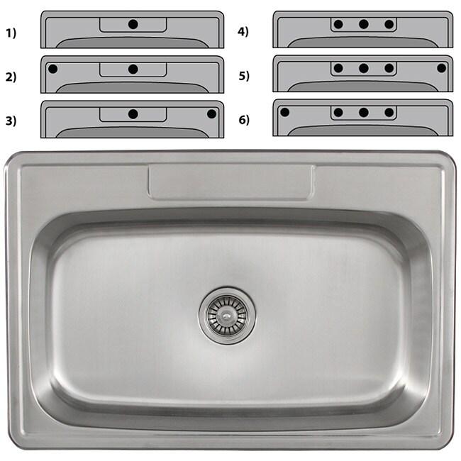 Ticor Stainless Steel 18-gauge Overmount Kitchen Sink