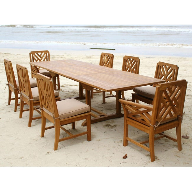 Outdoor Patio Furniture Savannah Ga: Savannah Outdoor Classics Borneo 9-piece Teak Expansion