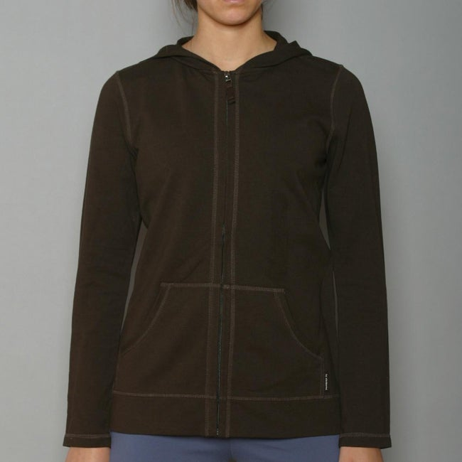 Liz Clairborne Women's Brown Active French Terry Jacket